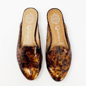 """Jeffery Campbell """"Gala"""" leopard patent mule slide"""
